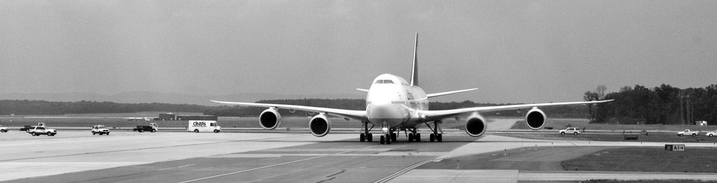 Lufthansa's Boeing 747-8 in Washington.