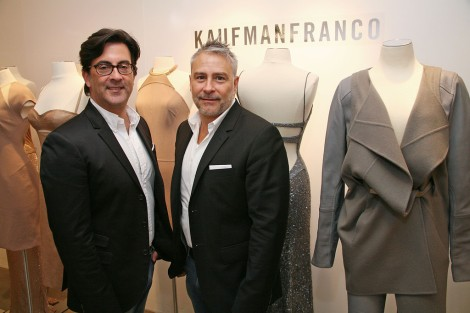 Ken Kaufman (l) and Isaac Franco at Mercedes-Benz Fashion Week